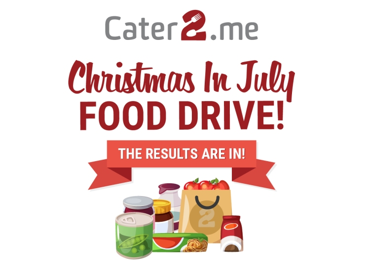 Christmas in July food drive results